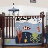 Ocean Blue Sea Life Baby Bedding - 11pc Crib Set by Sweet Jojo Designs