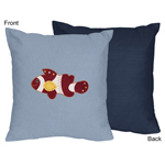 Ocean Blue Sea Life Decorative Accent Throw Pillow by Swe...