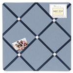 Ocean Blue Sea Life Fabric Memory/Memo Photo Bulletin Board