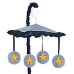 Ocean Blue Sea Life Musical Baby Crib Mobile by Sweet Jojo Designs