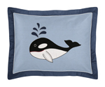 Ocean Blue Sea Life Pillow Sham by Sweet Jojo Designs