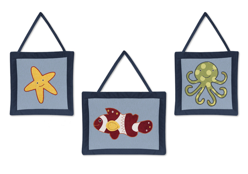 Ocean Blue Sea Life Wall Hanging Accessories by Sweet Joj...