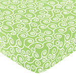 Olivia Fitted Crib Sheet for Baby/Toddler Bedding Sets - Scroll Print