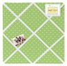 Olivia Lime and White Dot Fabric Memory/Memo Photo Bulletin Board by Sweet Jojo Designs