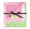 Olivia Minky and Satin Pink and Green Baby Blanket by Sweet Jojo Designs