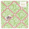 Olivia Pink and Green Fabric Memory/Memo Photo Bulletin Board