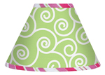 Olivia Pink and Green Lamp Shade by Sweet Jojo Designs