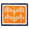 Orange and Navy Arrow Accent Floor Rug by Sweet Jojo Designs