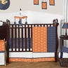 Orange and Navy Arrow Baby Bedding - 11pc Crib Set by Sweet Jojo Designs