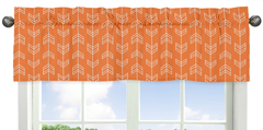 Orange and Navy Arrow Collection Window Valance