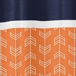 Orange And Navy Arrow Kids Bathroom Fabric Bath Shower Curtain Only