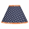 Orange and Navy Arrow Lamp Shade by Sweet Jojo Designs