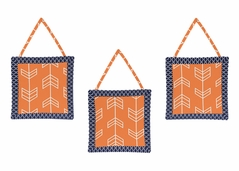 Orange and Navy Arrow Wall Hanging Accessories by Sweet Jojo Designs
