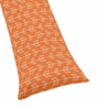 Orange and White Full Length Double Zippered Body Pillow Case Cover for Sweet Jojo Designs Arrow Sets