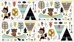 Outdoor Adventure Baby and Kids Wall Decal Stickers - Set of 4 Sheets