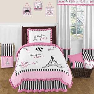 Paris 4pc Childrens and Kids Twin Bedding Set by Sweet Jo...