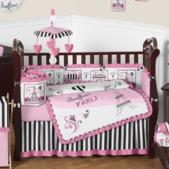 Paris Baby Bedding - 9pc Crib Set by Sweet Jojo Designs