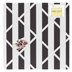 Paris Black and White Stripe Fabric Memory/Memo Photo Bulletin Board by Sweet Jojo Designs