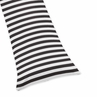 Paris Black and White Stripe Full Length Double Zippered Body Pillow Case Cover by Sweet Jojo Designs
