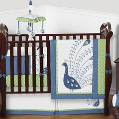 Peacock Baby Bedding - 9pc Crib Set by Sweet Jojo Designs