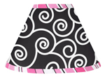 Pink and Black Madison Lamp Shade by Sweet Jojo Designs