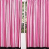 Pink and Black Madison Stripe Window Treatment Panels - Set of 2