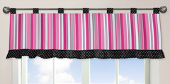 Pink and Black Madison Window Valance by Sweet Jojo Designs