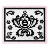 Pink and Black Sophia Accent Floor Rug