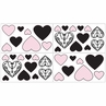 Pink and Black Sophia Baby, Kids and Teens Wall Decal Stickers - Set of 4 Sheets