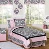 Pink and Black Sophia Childrens Bedding - 4pc Twin Set