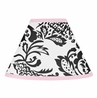 Pink and Black Sophia Lamp Shade by Sweet Jojo Designs