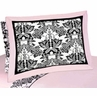 Pink and Black Sophia Pillow Sham
