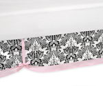 Pink and Black Sophia Queen Kids Childrens Bed Skirt by Sweet Jojo Designs