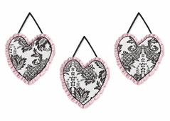 Pink and Black Sophia Wall Hanging Accessories by Sweet Jojo Designs