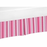 Pink and Black Stripe Crib Bed Skirt for Madison Baby Bedding Sets by Sweet Jojo Designs