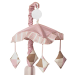 Pink and Brown Argyle Musical Crib Mobile by Sweet Jojo Designs