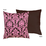 Pink and Brown Bella Decorative Accent Throw Pillow by Sweet Jojo Designs