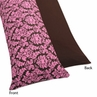 Pink and Brown Bella Full Length Double Zippered Body Pillow Case Cover by Sweet Jojo Designs