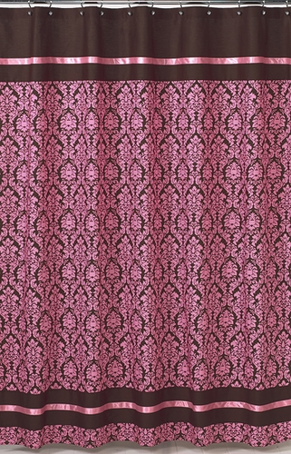 pink and brown bella kids bathroom fabric bath shower curtain only 25