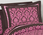 Pink and Brown Bella Pillow Sham