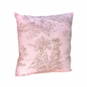 Pink and Brown French Toile Accent  Decorative Throw Pillow