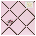 Pink and Brown Hotel Fabric Memory/Memo Photo Bulletin Board