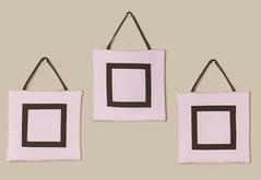 Pink and Brown Hotel Wall Hanging Accessories by Sweet Jojo Designs