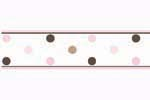 Pink and Brown Mod Dots Baby, Childrens and Teens Wall Border by Sweet Jojo Designs