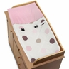 Pink and Brown Mod Dots Changing Pad Cover by Sweet Jojo Designs