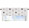 Pink and Brown Mod Dots Collection Window Valance by Sweet Jojo Designs