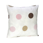 Pink and Brown Modern Polka Dots Throw Pillow