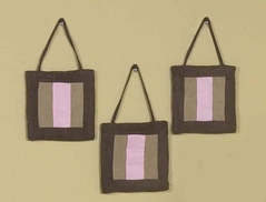 Pink and Brown Soho Wall Hanging Accessories by Sweet Jojo Designs