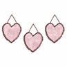 Pink and Brown Toile and Polka Dot Girls Wall Hangings by Sweet Jojo Designs