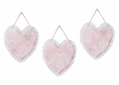 Pink and Gray Alexa Butterfly Wall Hanging Accessories by Sweet Jojo Designs